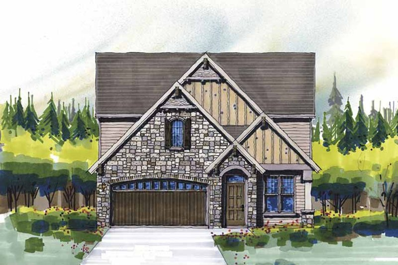 Country Exterior - Front Elevation Plan #509-312 - Houseplans.com