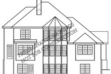 Country Exterior - Rear Elevation Plan #927-890