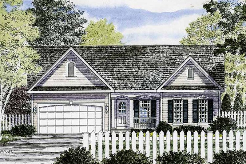 Ranch Exterior - Front Elevation Plan #316-236 - Houseplans.com