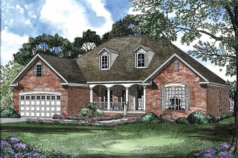 Colonial Exterior - Front Elevation Plan #17-2892