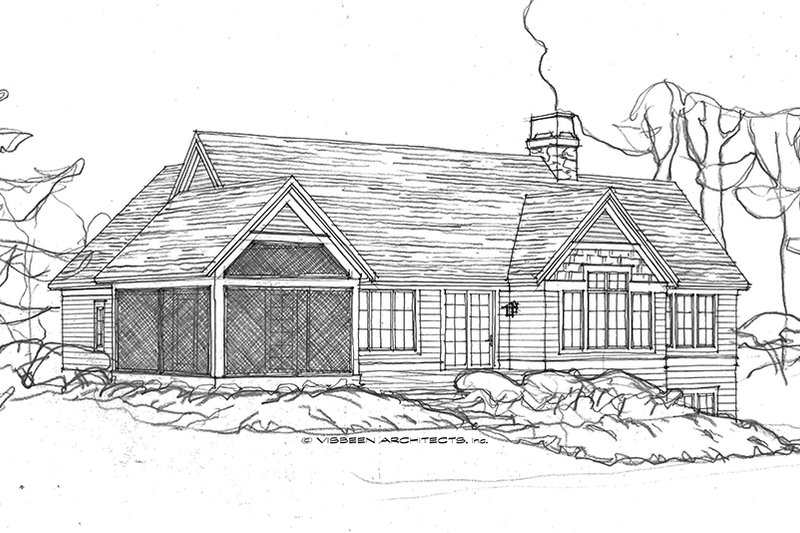 Ranch Exterior - Rear Elevation Plan #928-283 - Houseplans.com