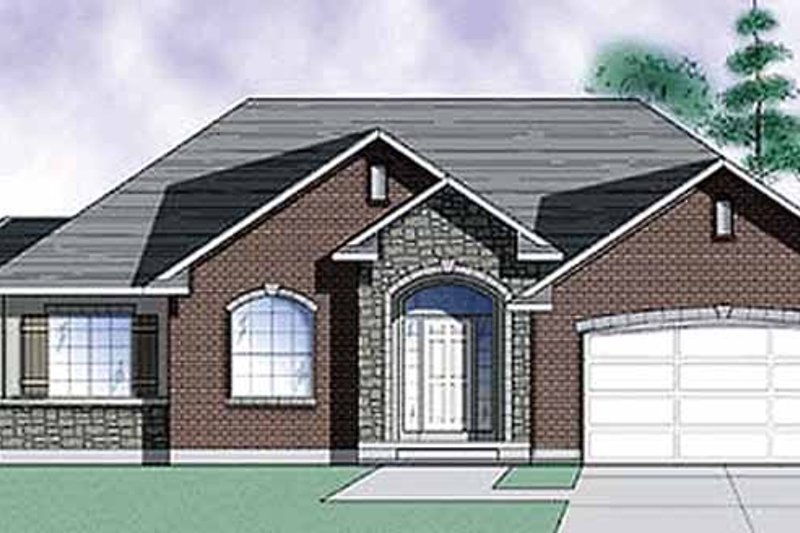 Traditional Exterior - Front Elevation Plan #945-8