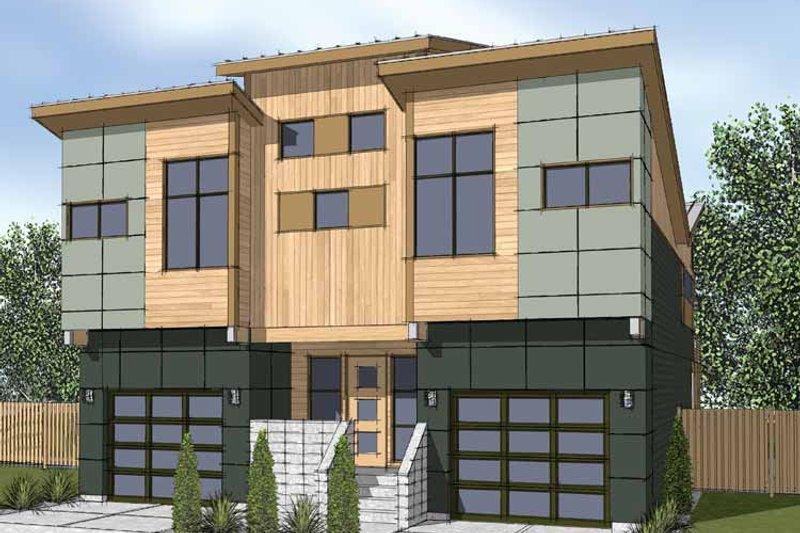 House Plan Design - Contemporary Exterior - Front Elevation Plan #569-12
