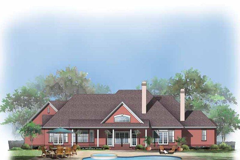 European Exterior - Rear Elevation Plan #929-496 - Houseplans.com