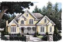 European Exterior - Front Elevation Plan #927-102
