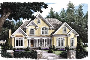 Architectural House Design - European Exterior - Front Elevation Plan #927-102