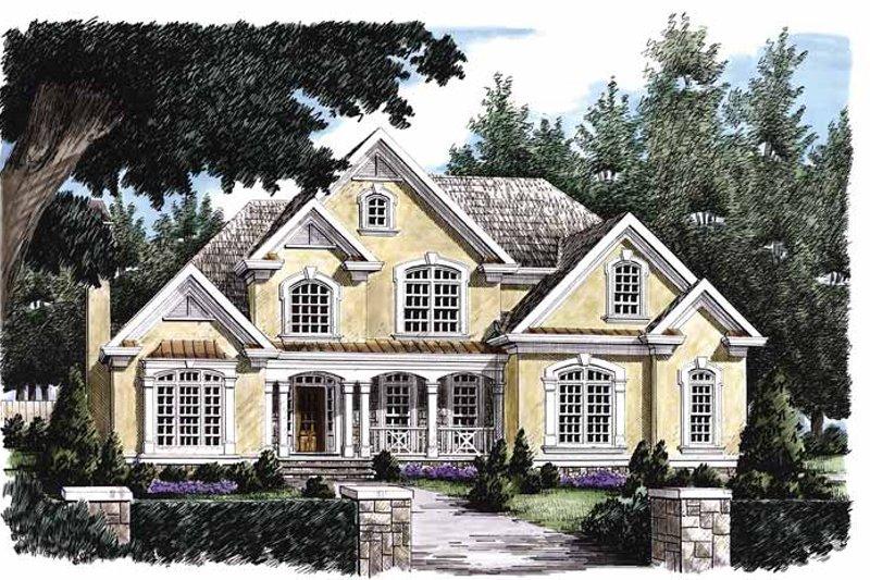 European Exterior - Front Elevation Plan #927-102 - Houseplans.com