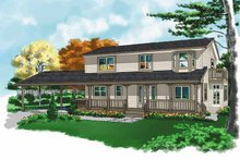 House Plan Design - Country Exterior - Front Elevation Plan #118-153
