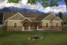 Architectural House Design - Craftsman Exterior - Front Elevation Plan #932-281