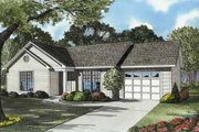 Ranch Style House Plan - 3 Beds 1 Baths 965 Sq/Ft Plan #17-580 Exterior - Front Elevation