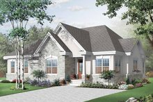 European Exterior - Front Elevation Plan #23-2395