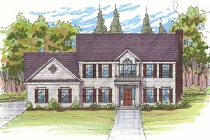 Dream House Plan - Traditional Exterior - Front Elevation Plan #435-24