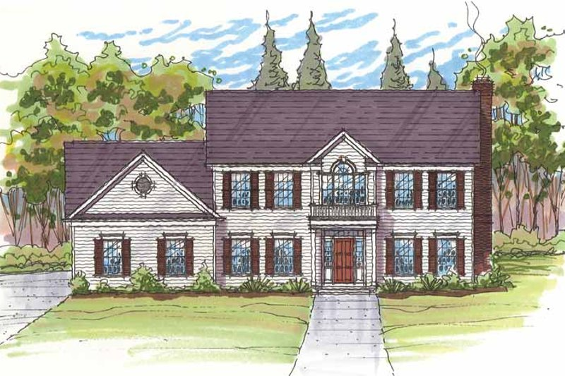 House Plan Design - Traditional Exterior - Front Elevation Plan #435-24