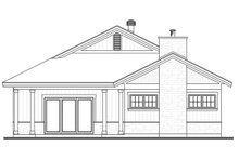 House Plan Design - Ranch Exterior - Rear Elevation Plan #23-2655
