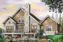 House Plan Design - Cottage house country house design elevation