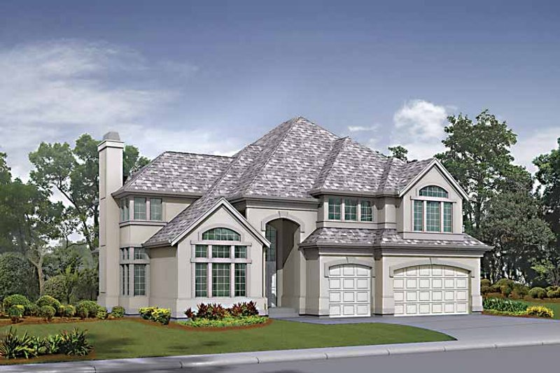 Traditional Exterior - Front Elevation Plan #132-425 - Houseplans.com