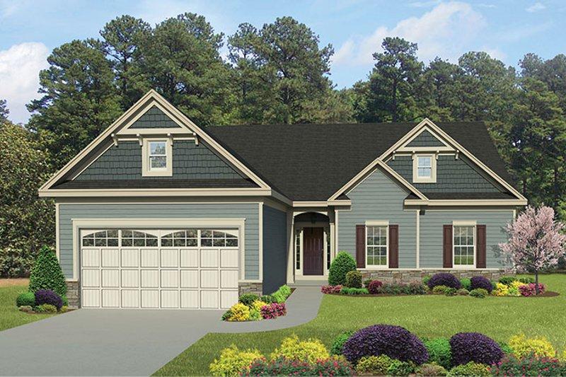 Ranch Exterior - Front Elevation Plan #1010-138 - Houseplans.com