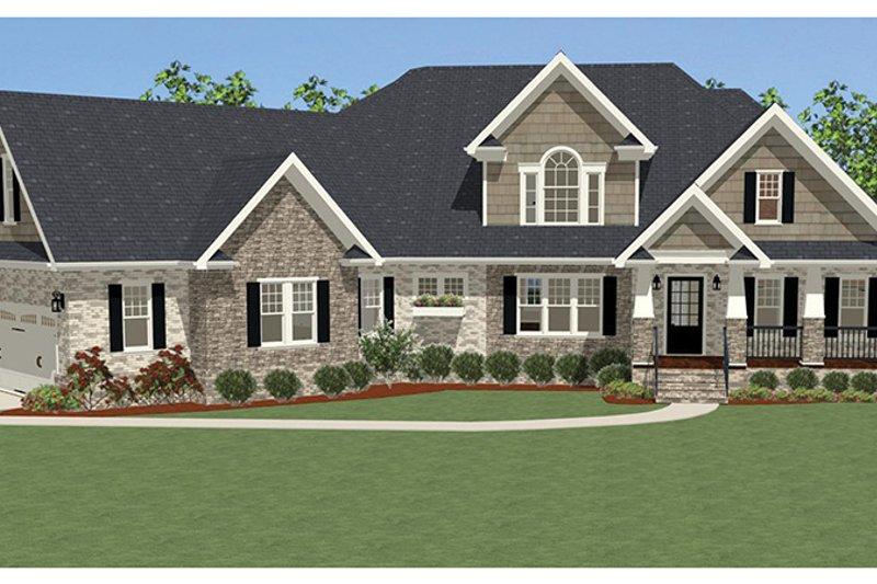 Craftsman Exterior - Front Elevation Plan #898-36