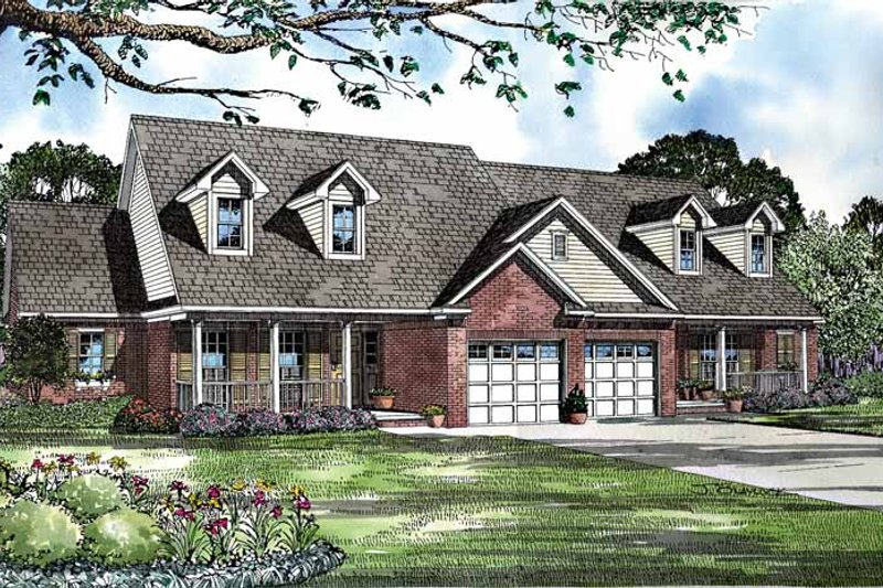 Country Exterior - Front Elevation Plan #17-3119