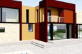 Modern Style House Plan - 4 Beds 6 Baths 5164 Sq/Ft Plan #542-1 Exterior - Rear Elevation