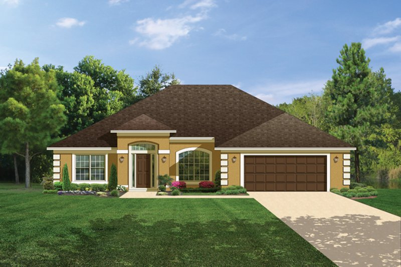 Prairie Exterior - Front Elevation Plan #1058-26 - Houseplans.com