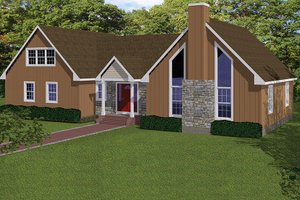 Home Plan Design - Country Exterior - Front Elevation Plan #1061-36