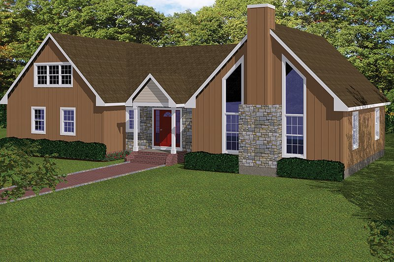 Architectural House Design - Country Exterior - Front Elevation Plan #1061-36