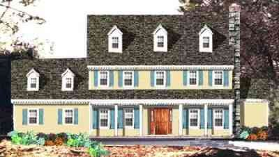 Colonial Exterior - Front Elevation Plan #3-219