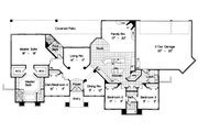European Style House Plan - 4 Beds 3 Baths 2597 Sq/Ft Plan #417-292 Floor Plan - Main Floor Plan