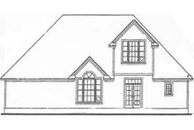 House Plan Design - Traditional style, rear elevation
