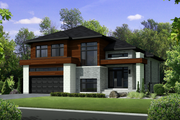 Contemporary Style House Plan - 3 Beds 2 Baths 2329 Sq/Ft Plan #25-4280 Exterior - Front Elevation