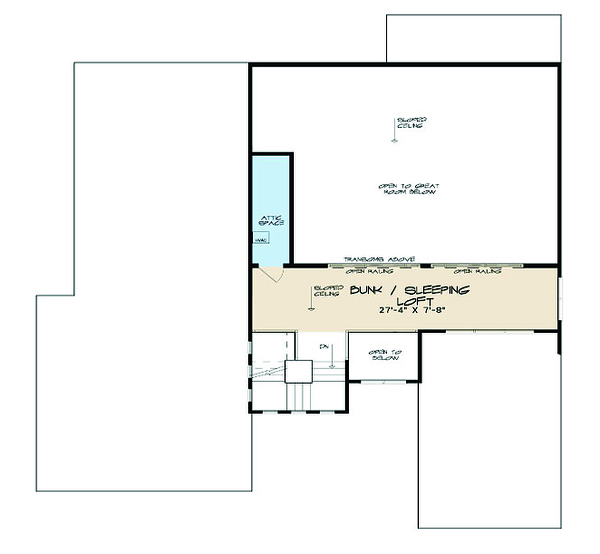 Contemporary Floor Plan - Upper Floor Plan Plan #923-55