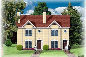 Traditional Exterior - Front Elevation Plan #26-206