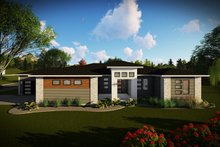 Dream House Plan - Ranch Exterior - Front Elevation Plan #70-1495