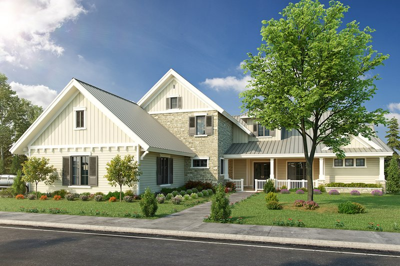 Home Plan - Country Exterior - Front Elevation Plan #942-56