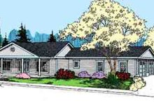 Home Plan - Ranch Exterior - Front Elevation Plan #60-638