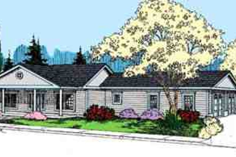 Ranch Exterior - Front Elevation Plan #60-638