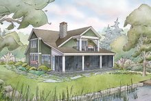 Dream House Plan - Bungalow Exterior - Rear Elevation Plan #928-330