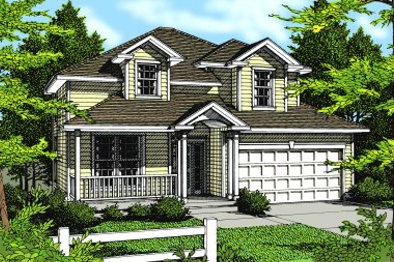 Traditional Exterior - Front Elevation Plan #94-208