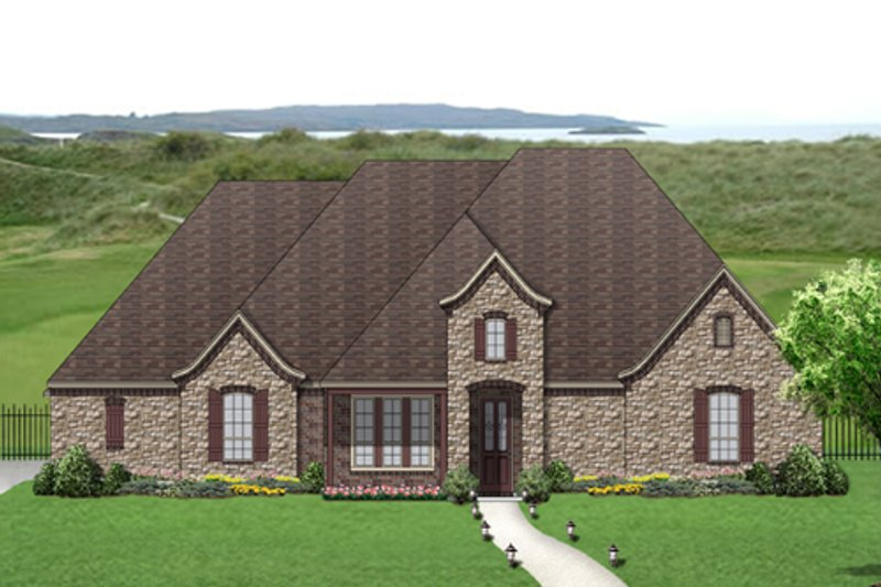 European Exterior - Front Elevation Plan #84-525