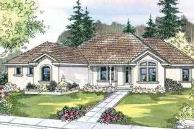 Dream House Plan - European Exterior - Front Elevation Plan #124-514