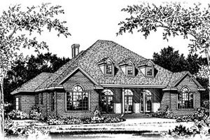 Colonial Exterior - Front Elevation Plan #15-221