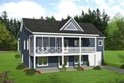Country Style House Plan - 4 Beds 3 Baths 2569 Sq/Ft Plan #932-310 Exterior - Rear Elevation