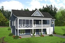 Architectural House Design - Country Exterior - Rear Elevation Plan #932-310