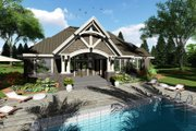 Craftsman Style House Plan - 4 Beds 3 Baths 2372 Sq/Ft Plan #51-572 Exterior - Rear Elevation