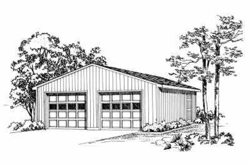 Traditional Exterior - Front Elevation Plan #72-249 - Houseplans.com