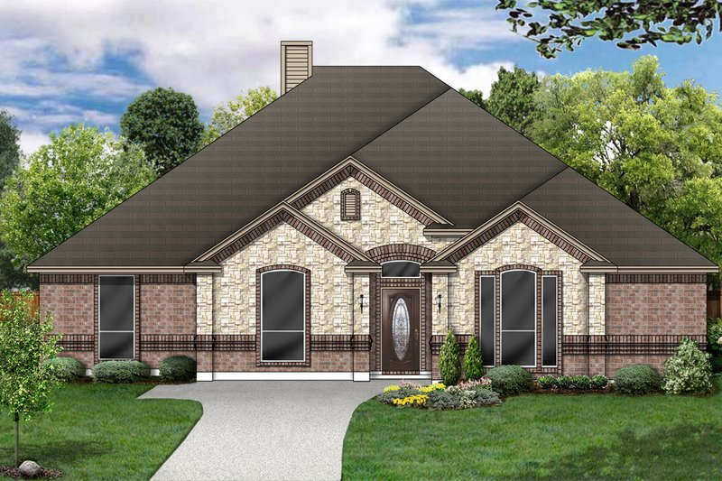 Traditional Exterior - Front Elevation Plan #84-369 - Houseplans.com