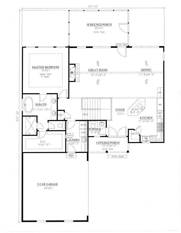 Architectural House Design - Farmhouse Floor Plan - Main Floor Plan #437-97