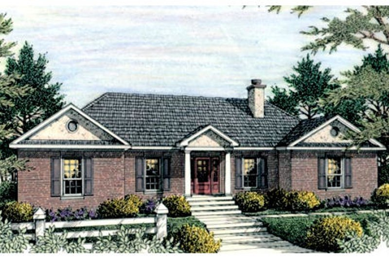 Traditional Exterior - Front Elevation Plan #406-136 - Houseplans.com