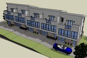 Modern Style House Plan - 2 Beds 2 Baths 5850 Sq/Ft Plan #448-1 Exterior - Front Elevation